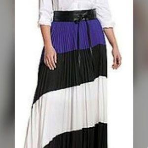 Pleated multi colored skirt